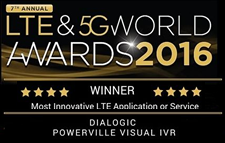 Dialogic Powerville Visual IVR - WINNER - Most Innovative LTE Application or Service LTE & 5G World Awards 2016