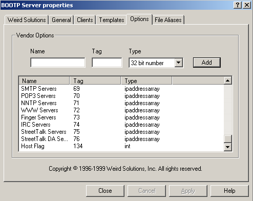 Configuring a Host Flag Using BOOTP Server
